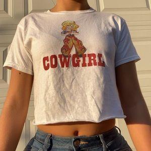 Ashlyn Cowgirl Cropped Baby Tee